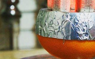 Как сделать чашу из грейпфрута?