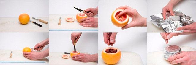 Кальян на грейпфруте